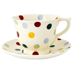 Polka Dot Large teacup and saucer set