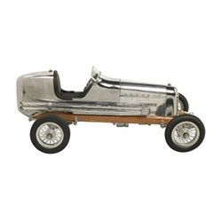Bantam Midget Model car, H18 x W22 x L48cm, polished aluminium