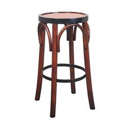 Grand Hotel Barstool, H73 x D37.5cm, black/honey distressed pine