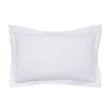 300 Thread Count Plain Dye Blue Hotel Oxford pillowcase, L48 x W74cm, platinum