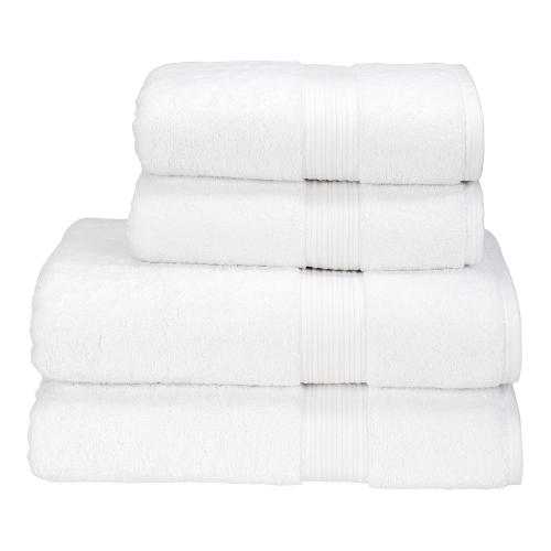 Supreme Hygro Pair of hand towels, 50 x 100cm, White