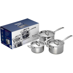3 Ply Stainless Steel 3 piece saucepan set