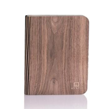 Large smart book light, L21.5 x W17 x H2.5cm, walnut
