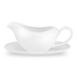 Serendipity Gravy boat and stand, 35cl, White