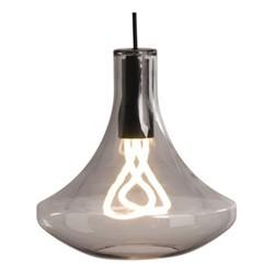 Plume Pendant lamp, W30 x H139cm, smoke grey