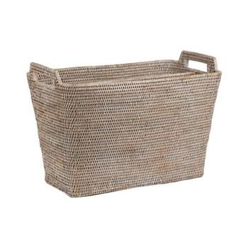 Ashcroft Magazine basket, L28 x D50 x H36cm, rattan
