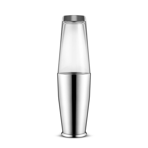 Ettore Sottsass Boston cocktail shaker and bar accessories, Stainless Steel