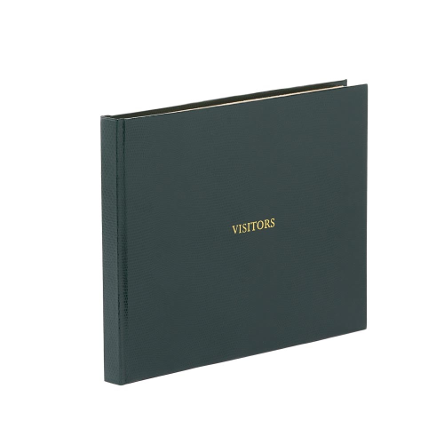 Oyster Bay Visitors book with lined pages, 22 x 28.5cm, green