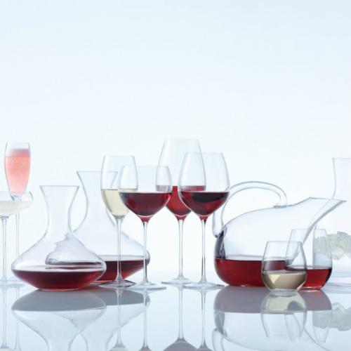 Wine Set of 4 stemless wine glasses, 530ml, clear