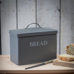 Bread bin, H29.5 x W33.5 x D18.5cm, Charcoal
