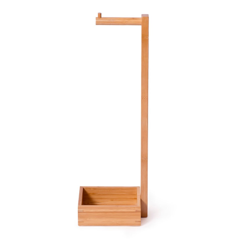 Arena Freestanding loo roll holder, H60 x W20 x D15cm, Bamboo