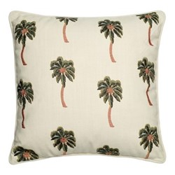 Kenya Collection - African Palmier Cushion with polyester insert, 45 x 45cm, natural