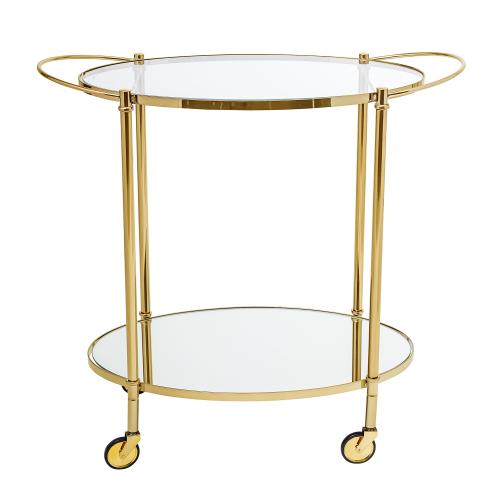 Fine Bar Trolley, H81 x W46 x L86cm, Gold