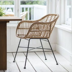 Hampstead Pair of chairs, H82 x W55.5 x D57cm, All-Weather Bamboo