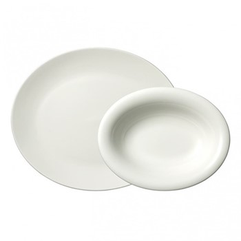 Vera Wang Perfect White Pair of serving dishes, white