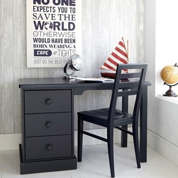 Pedestal Desk, H77 x W121 x D60cm, prussian blue