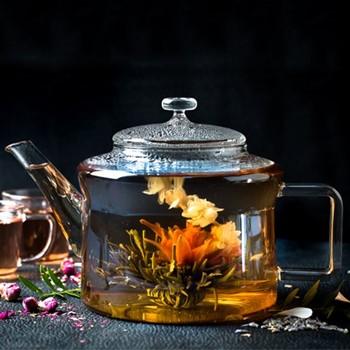 Healthy Living - Matcha Teapot, H26 x W13.5 x L18cm - 1 Litre, clear