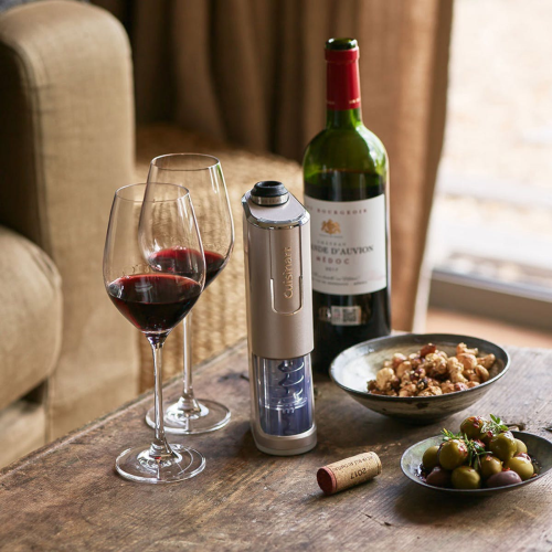 Cordless 4 in 1 Wine Opener, Silver
