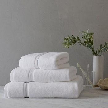 Savoy Bath sheet, 100 x 150cm, white and silver