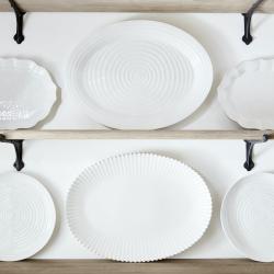 Ceramics Oval plate, 43 x 34cm, White