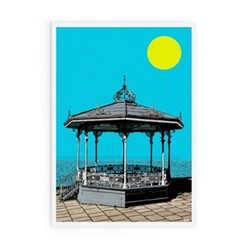 Dublin Collection - DunLaoghaire bandstand Framed print, A3 size, multicoloured