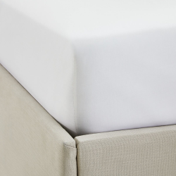 Single Row Cord - 200 Thread Count Egyptian Cotton King fitted sheet, W150 x L200 x D30cm, White