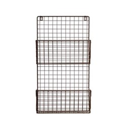 Farringdon Magazine rack, charcoal/wirework