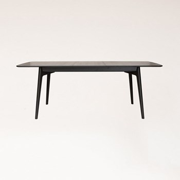 Dulwich Wenge extending dining table, H74.5 x W158 x D90cm, wenge