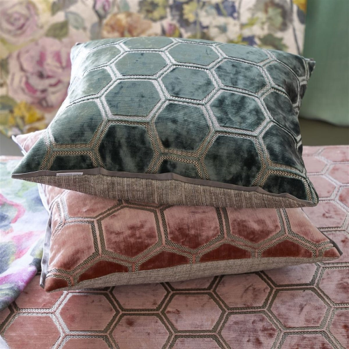 Manipur Cushion, H43 x W43cm, Jade