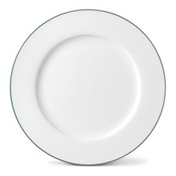 Rainbow Collection Dinner plate, 27cm, jungle green rim
