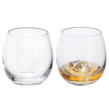 Pair of tumbler glasses H9.5cm - 34.5cl