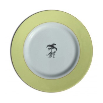 Harlequin - Yellow Cheetah Dinner plate, 26cm, yellow