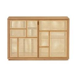 Air Sideboard, 120 x 40 x 81cm, oak/cane