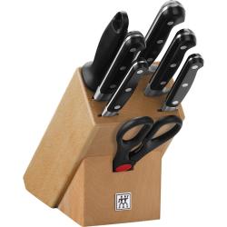 Professional S Knife block set 8 piece, Beech