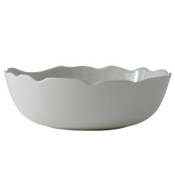 Plume Pasta plate, 21cm, white pearl