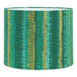 Textured Stripe Drum lampshade, W31 x H24cm, moss