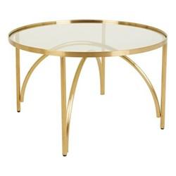 Giovanna Coffee table, H45 x Dia70cm, Metallic