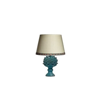 Artur Small table lamp - base only, H28 x W17cm, turquoise crackle glaze