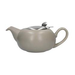 Pebble 2 cup teapot, H7 x D12cm, putty