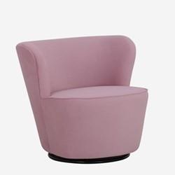 Dorothy Swivel chair, W76 x H71.5 x D74cm, old rose houdini velvet