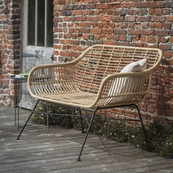 Hampstead Bench, H83 x W126 x D71cm, all-weather bamboo
