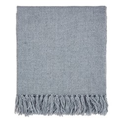 Freya Throw, L130 x W170cm, sky blue