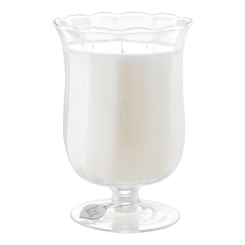 Signature Scented candle in bouquet vase, H20 x D14cm, ivory