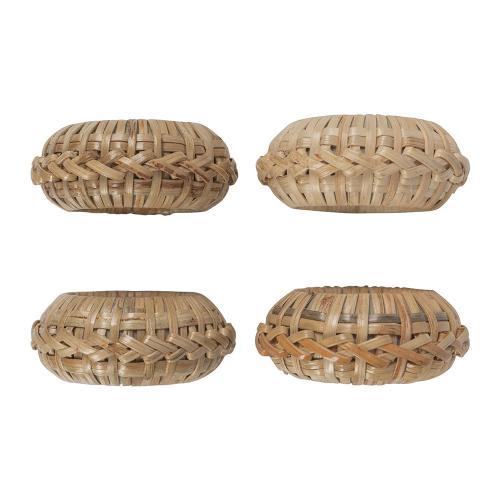 Set of 4 napkin rings, Dia4cm, Wicker