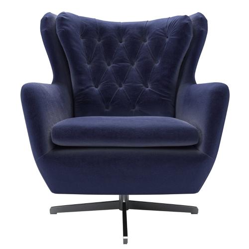 Ernest Armchair, H103 x W91 x D97cm, Prussian Blue