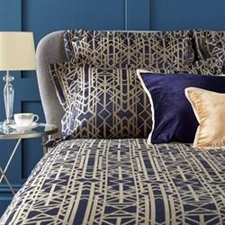 Gatsby Pair of oxford pillowcases, L50 x 75cm, navy