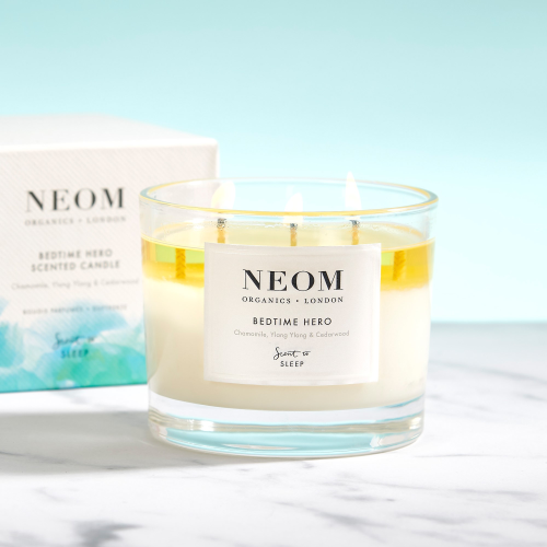 Scent to Sleep - Bedtime Hero 3 wick scented candle, White