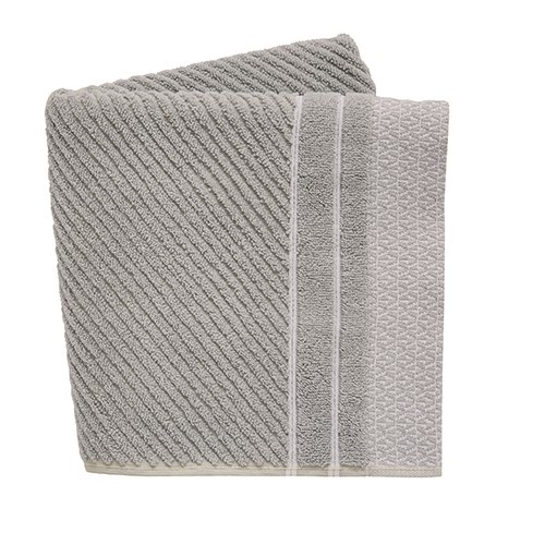 Ripple Bath Towel, L130 x W70cm, Cloud Grey