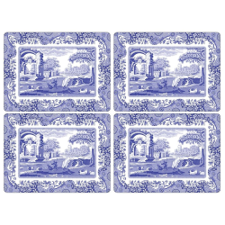 Blue Italian Set of 4 placemats, 40 x 29cm