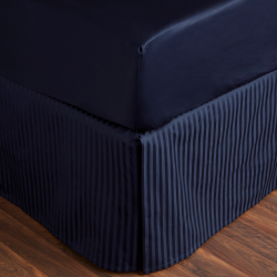 Millennia 1200TC Double fitted sheet, 137 x 190cm, Midnight